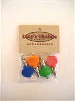 Lucy's tuners, color, rainbow, ukulele