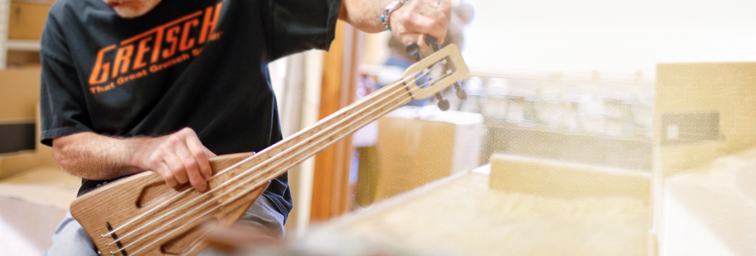 Artfully designed, innovative stringed instruments